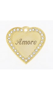 Amore Bow Wow Bling ID Tag