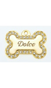 Dolce Bow Wow Bling Dog Tag