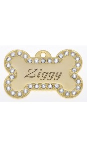 Ziggy Bow Wow Bling Dog ID Tag