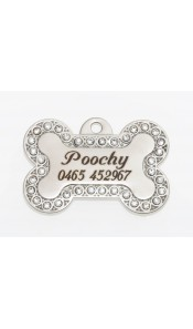 Poochy Bow Wow Bling Dog ID Tag