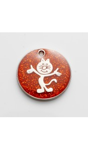 Red Glitter Cat ID Tag by Bow Wow Meow