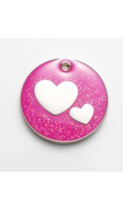 Pink Glitter Hearts by Bow Wow Meow