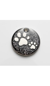 Black Glitter Paws Cat ID Tag by Bow Wow Meow