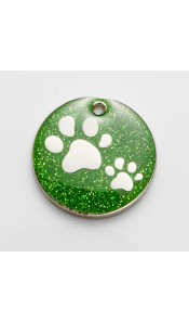 Green Glitter Paws Cat ID Tag by Bow Wow Meow