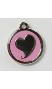 Pink Heart Designer Pet Tag by BowWowMeow
