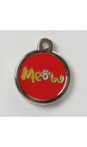Meow Designer Cat ID Tag by BowWowMeow