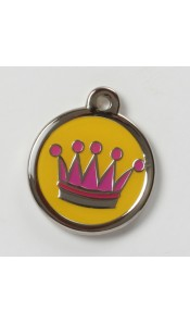 Crown Designer Pet Id tag by BowWowMeow