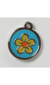 Yellow Flower Designer Pet ID Tag by BowWowMeow