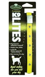 Flashing K9 Lite Safety Dog Collar