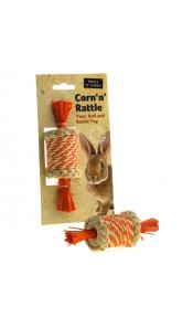 Corn 'n' Rattle Small Animal Toy