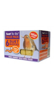 Value 6 Pack Suet To Go Insect Suet Blocks