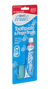 Denti Fresh Cat & Dog Toothpaste and Finger Brush
