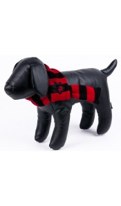 k9 Red/Black Stripe Doggy Scarf