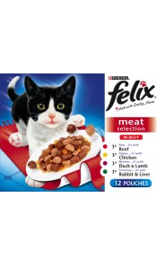 Felix Pouch Meat Variety 12 x 100g