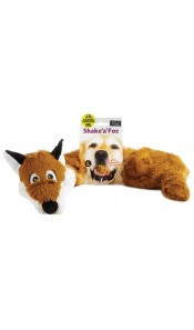 Large Shake 'A' Fox Dog Toy