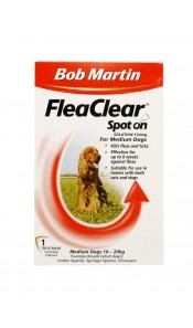 Medium Dog Fleaclear Spot On by Bob Martin