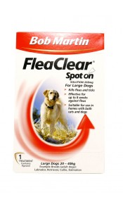Large Dog Flea Clear Spot On by Bob Martin