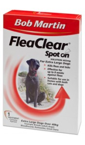 X-Large Dog Flea Clear Spot On by Bob Martin