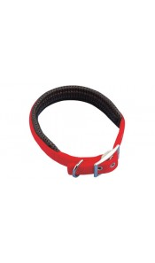 Red Padded Dog Collar