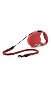Flexi Classic Long 1 Dog Lead (Red) - 7 metres x 12kg