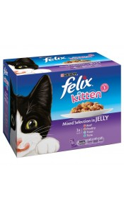Felix KITTEN Mixed Selection in Jelly 12 Pack