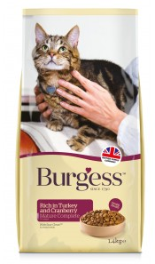 Burgess Mature Cat Food Turkey & Cranberry 1.4Kg